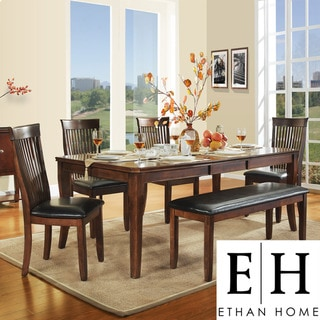 ETHAN HOME Winsford Burnished Cherry 6-piece Dining Set