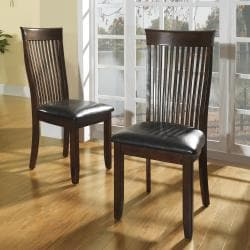 Winsford Burnished Cherry High Back Transitional Dining Chair (Set of 2)
