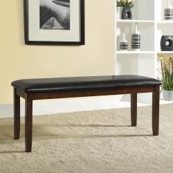 Winsford Burnished Cherry 48-inch Cushioned Transitional Bench