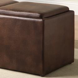 TRIBECCA HOME Oakford Cocktail Ottoman Table/ Bench