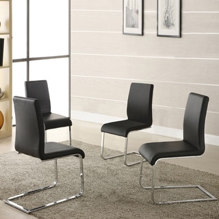 TRIBECCA HOME Wragby Black Contoured Modern Dining Chairs (Set of 4)