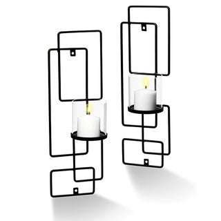 Sarah Peyton Decorative Metal Sconce Set (Pack of 2)