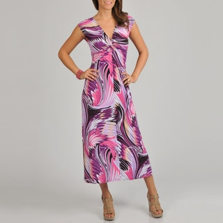 AnnaLee + Hope Women's Abstract Feather Dress