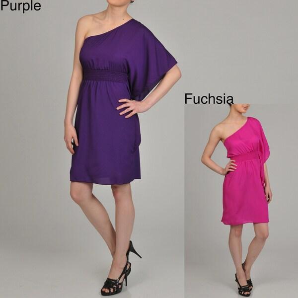 AnnaLee + Hope Women's One-shoulder Dress