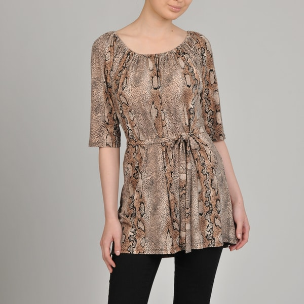 AnnaLee + Hope Women's Python Self-belted Tunic