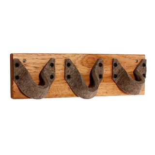 JK Adams 3-bottle Hickory Wood/ Felt Wine Rack