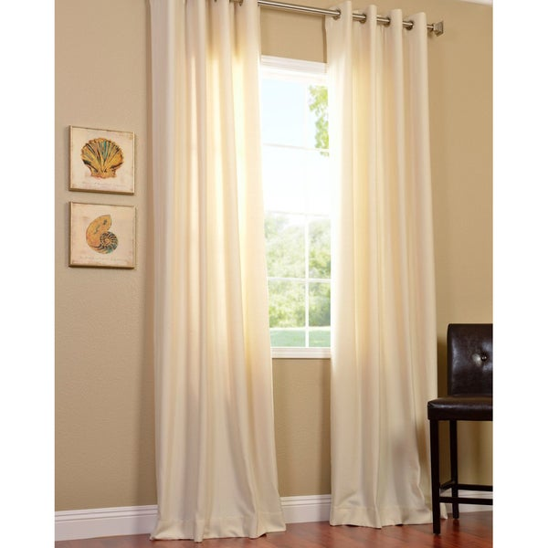 EFF Cotenza Vanilla Faux Cotton Grommeted Curtain Panel
