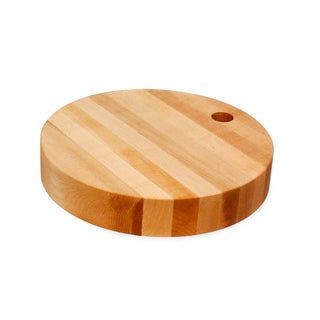 JK Adams 10-Inch Round Birch Wood Cutting Board