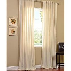 EFF Cotenza Vanilla Faux Cotton Curtain Panel