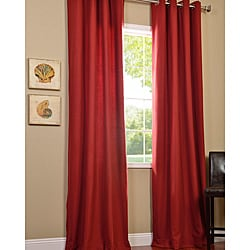 Cotenza Salsa Faux Cotton Grommeted Curtain Panel