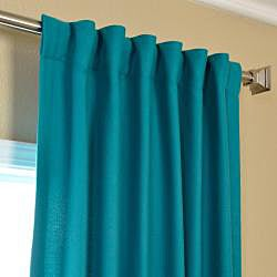 Cotenza Turquoise Faux Cotton Curtain Panel