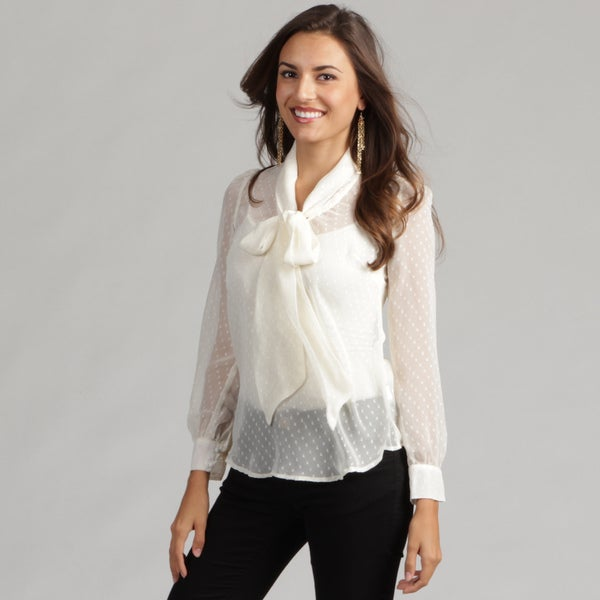 Jessica Simpson Junior's Bow Front 'Brandi' Chiffon Top