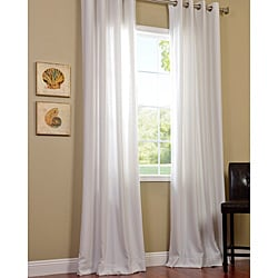 Polar White Faux Cotton Cotenza Window Curtain Panel