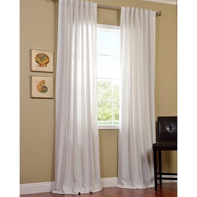 Polar White Faux Cotton Cotenza Curtain Panel
