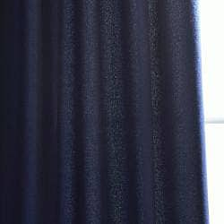 Navy Faux-Cotton Cotenza Grommet-Top Curtain Panel