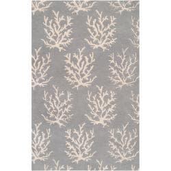 Somerset Bay Hand-tufted Bacelot Bay Grey Beach Inspired Wool Rug (3'3 x 5'3)