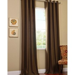 Cocoa Faux Cotton Cotenza Grommet Curtain Panel