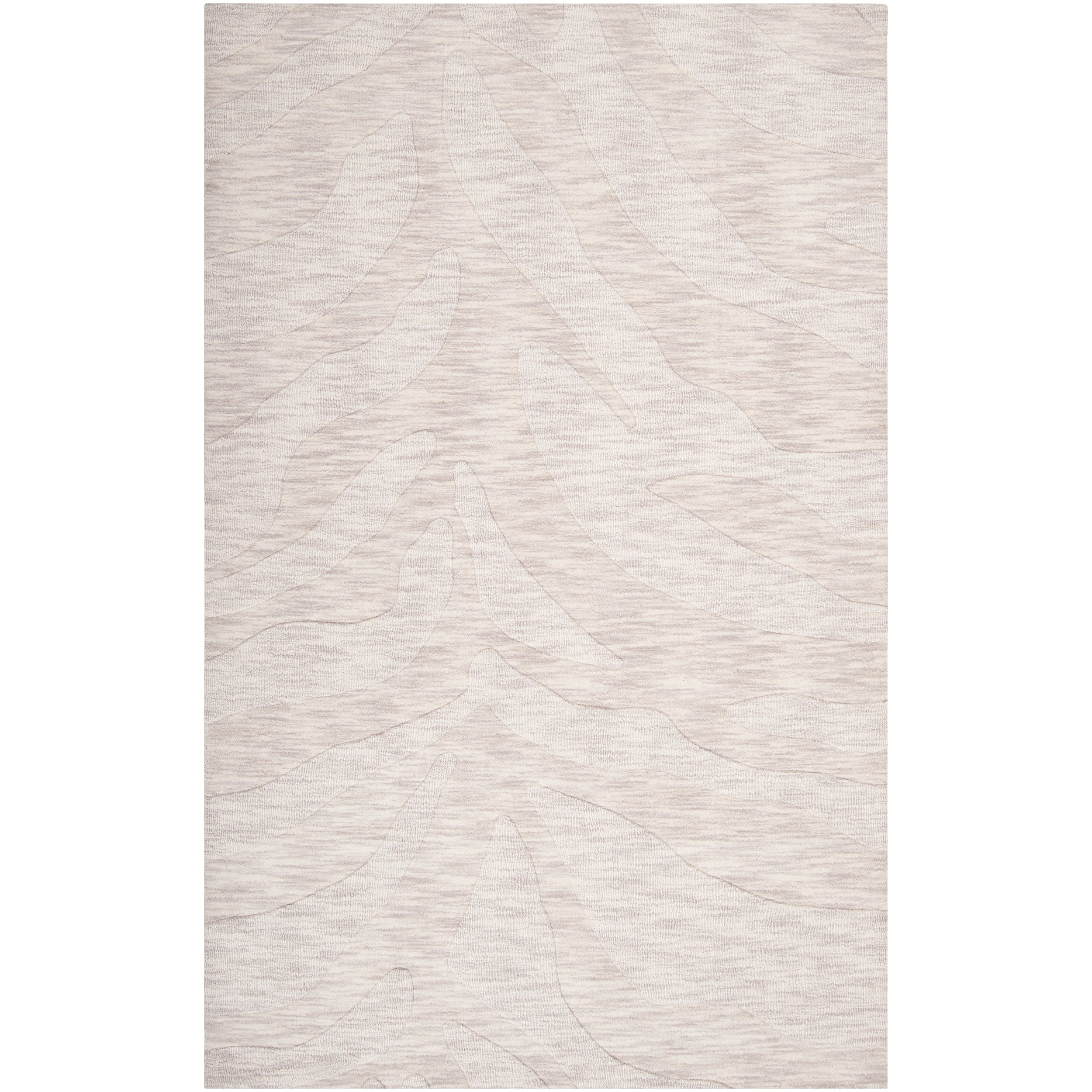 Hand-crafted Solid White Casual Mystique Wool Rug (3'3 x 5'3)