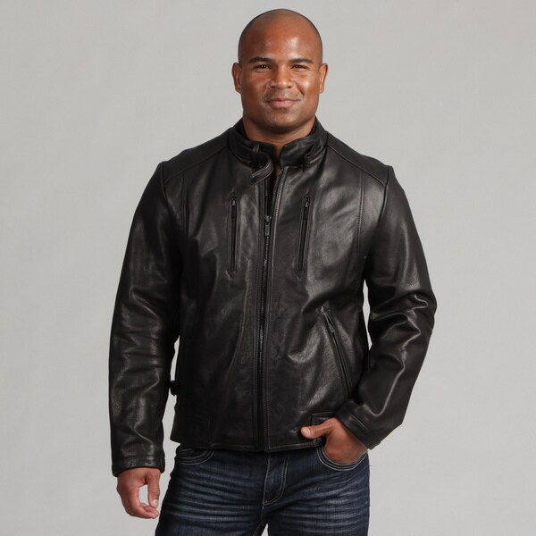 Calvin Klein Men's Leather Scuba Jacket