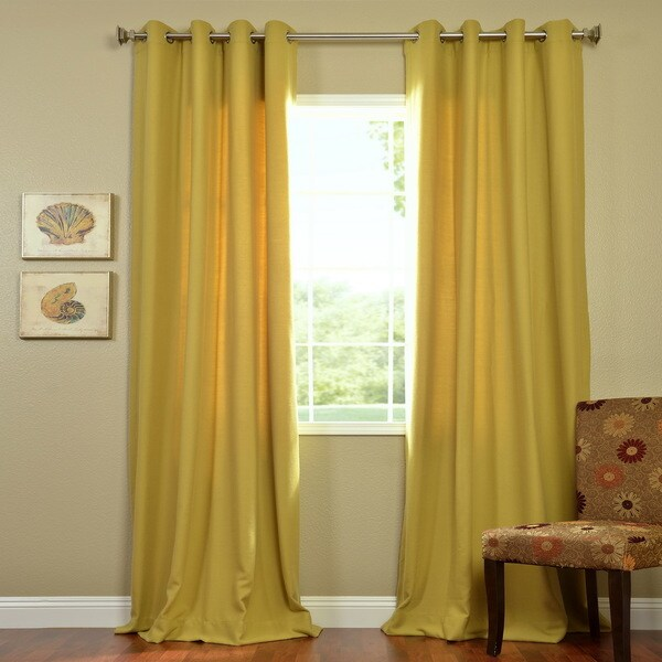 EFF Citron Cotenza Grommet Curtain Panel