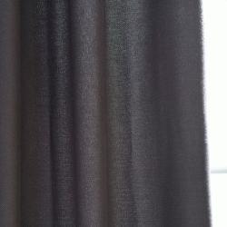 Exclusive Fabrics Charcoal Cotenza Faux Cotton Grommet Curtain Panel