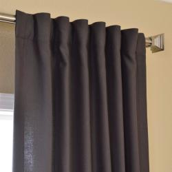 EFF Charcoal Cotenza Faux Cotton Curtain Panel