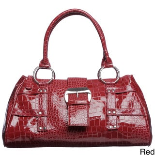 Valencia Croco Embossed Satchel Bag