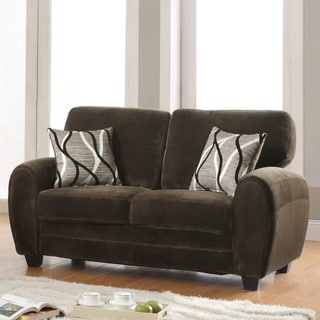 Daventry Chocolate Microfiber Loveseat