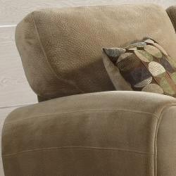 Daventry Light Brown Microfiber Sofa