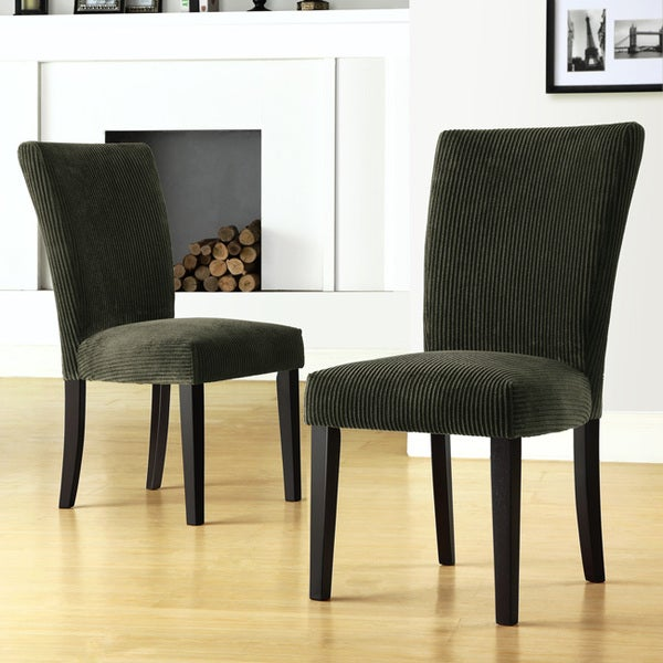 Parson Moss Corduroy Dining Chairs (Set of 2)