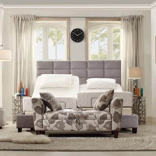 Tribecca Home Sarajevo White Bonded Leather High Profile Tufted King-size Bed