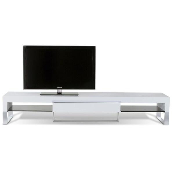 J&K White Lacquer 87-inch TV Cabinet