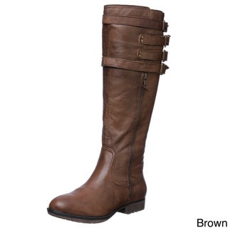 Steve Madden Womens 'P-Mikel' Leather Boots