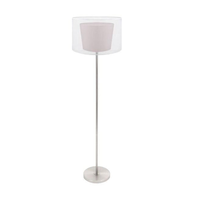 Duo Drum Brown Floor Lamp