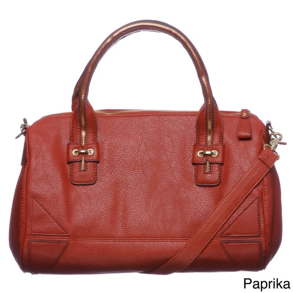 Jessica Simpson 'Zip Me Up' Pebbled Satchel Bag