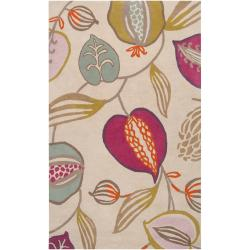 Harlequin Collection Hand-tufted Green Diego Martin Floral Wool Rug (9' x 12')