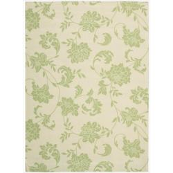 Casual Nourison Home and Garden Green Indoor/ Outdoor Polyester Rug (7'9 x 10'10)