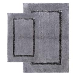 Greenville Pewter Grey 2-Piece Bath Mat Set