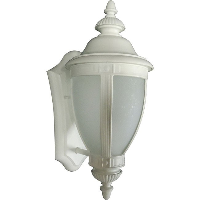One Light White Wall Lantern