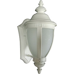 One Light White Wall Lantern