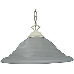 One Light Textured White Pendant