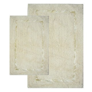Greenville Vanilla 2-piece Bath Rug Set - Includes BONUS Step Out Mat