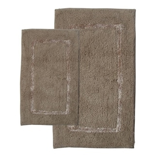 Greenville Sand 2-piece Bath Rug Set - Includes BONUS Step Out Mat