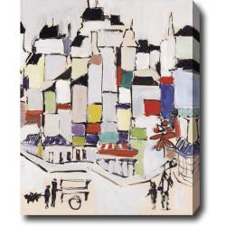 'The Town' Abstract Oil on Canvas Art