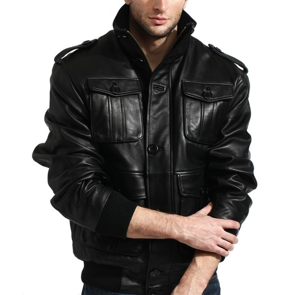 Tanners Avenue Men S Lambskin Leather Cafe Racer Jacket