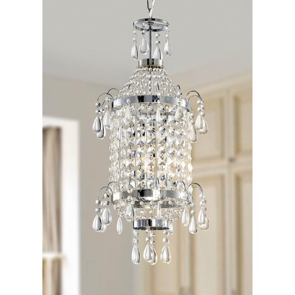 Liata Chrome and Crystal Pendant Chandelier