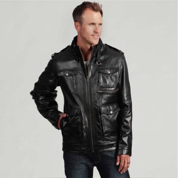 Tanners Avenue Men's Black Buffalo Leather Jacket