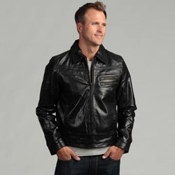Tanners Avenue Men's Distressed Black Buffalo Leather Jacket