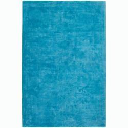 Large Handwoven Mandara Blue Rug (5' x 7'6