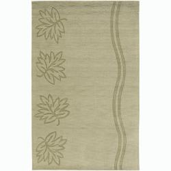 Hand-tufted Mandara Green Wool Rug (9' x 13')